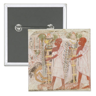 Preparation two mummies for purification ceremony pin
