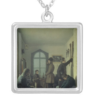Preparations for Hunting, 1836 Silver Plated Necklace