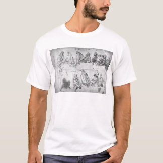 Preparatory drawing for the Last Supper T-Shirt