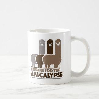 Prepare For The Alpacalypse Basic White Mug