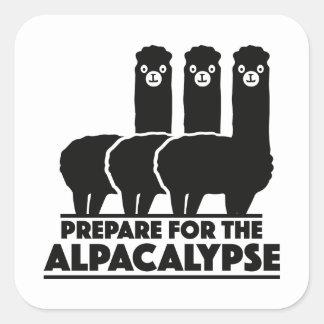 Prepare For The Alpacalypse Square Sticker