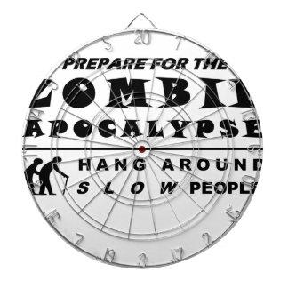 Prepare for the zombie dartboard