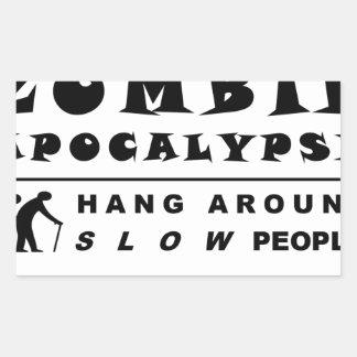 Prepare for the zombie rectangular sticker