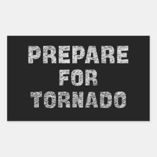 prepare for tornado rectangular sticker