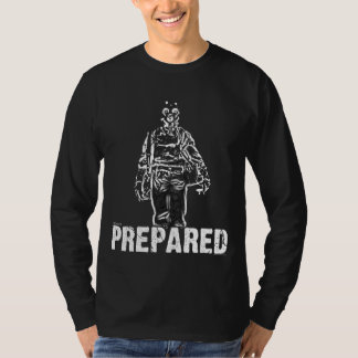 """Prepared"" Black T-shirt"