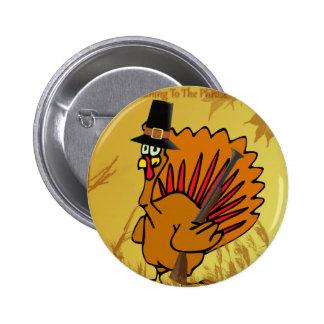 prepared-turkey 6 cm round badge