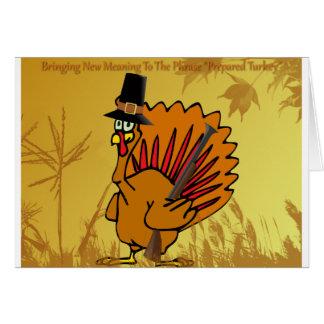 prepared-turkey greeting card