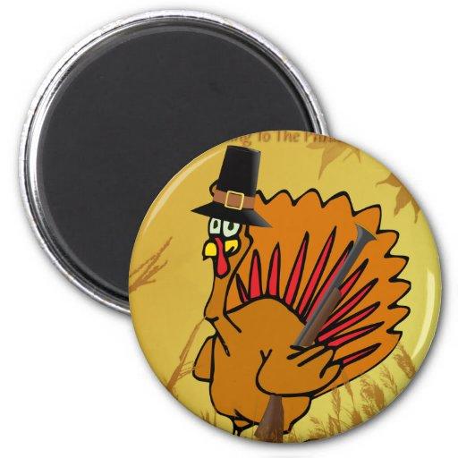 prepared-turkey refrigerator magnet