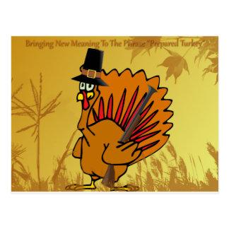 prepared-turkey postcard