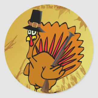 prepared-turkey round sticker