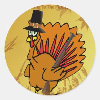 prepared-turkey round sticker