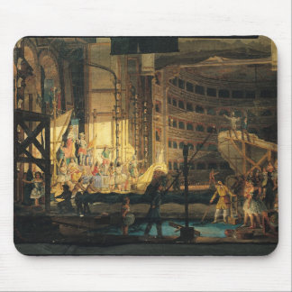 Preparing Scenery in a Theatre Mouse Pads