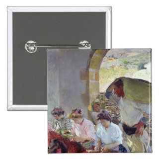 Preparing the Dry Grapes, 1890 15 Cm Square Badge