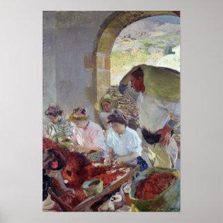 Preparing the Dry Grapes, 1890 Poster
