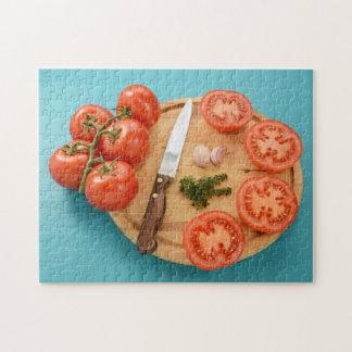 Preparing tomatoes jigsaw puzzle
