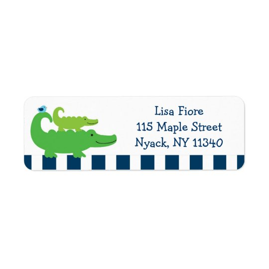 Preppy Alligator Address Labels