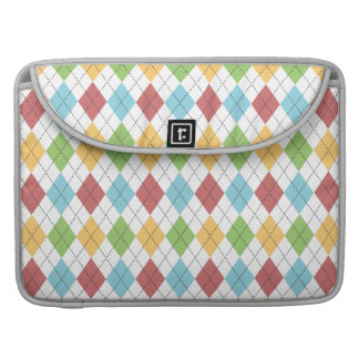 Preppy Argyle Classic Colorful Pattern MacBook Pro Sleeves