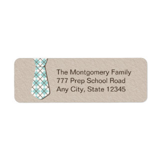 Preppy Argyle Necktie Return Address Labelsi Return Address Label