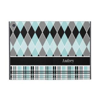Preppy Argyle Plaid Fun Prep Modern Personalized Cover For iPad Mini
