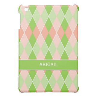 Preppy Argyle Plaid Fun Prep Modern Personalized Cover For The iPad Mini