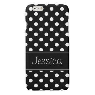 Preppy Black and White Polka Dots Personalized