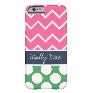 Preppy Chevron Dot Mally Mac iPhone 6 case
