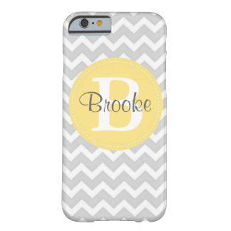 Preppy Chic Chevron Grey and Yellow iPhone 6 case