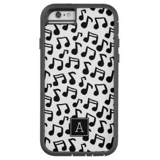 Preppy Doodle Music notes Monogram Personalized Tough Xtreme iPhone 6 Case