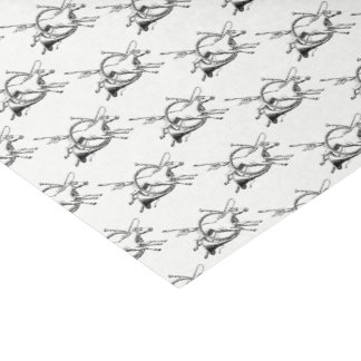Preppy Equestrian Horse Jumping Through Horn Hunt Tissue Paper