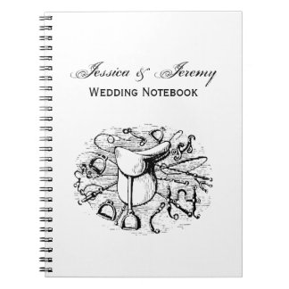 Preppy Equestrian Horse Tack Saddle Bridle Bits Notebooks