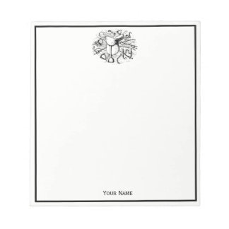 Preppy Equestrian Horse Tack Saddle Bridle Bits Notepad