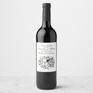 Preppy Equestrian Horse Tack Saddle Bridle Bits Wine Label