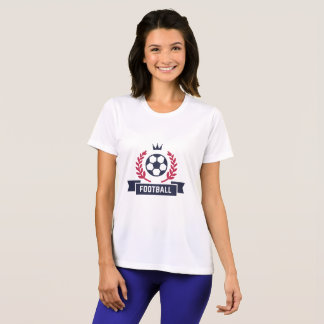 Preppy Football Soccer Badge. Custom Player Number T-Shirt