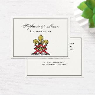 Preppy Gold Red Heraldic Crest Fleur de Lis Emblem Business Card