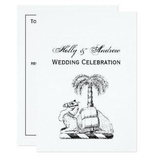 Preppy Heraldic Camel Palm Tree Coat of Arms Card