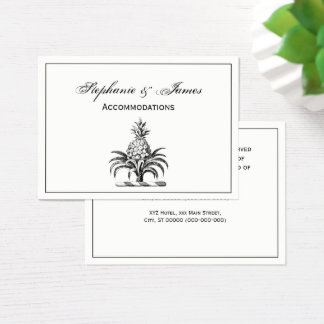 Preppy Heraldic Pineapple Coat of Arms Crest Business Card