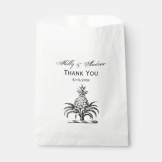 Preppy Heraldic Pineapple Coat of Arms Crest Favour Bag