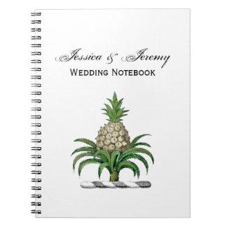 Preppy Heraldic Pineapple Coat of Arms Crest Notebooks