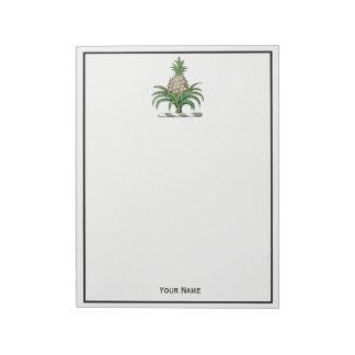 Preppy Heraldic Pineapple Coat of Arms Crest Notepad