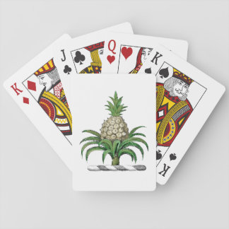 Preppy Heraldic Pineapple Coat of Arms Crest Playing Cards