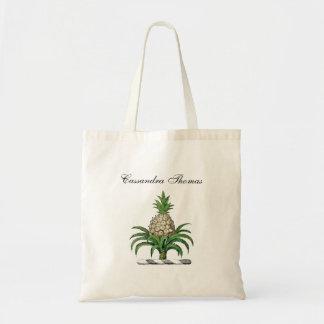 Preppy Heraldic Pineapple Coat of Arms Crest Tote Bag
