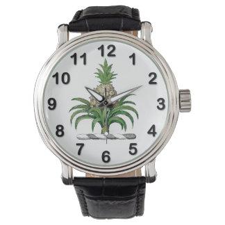 Preppy Heraldic Pineapple Coat of Arms Crest Watch