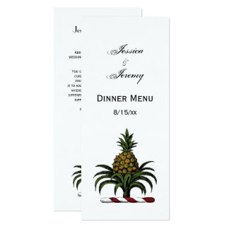 Preppy Heraldic Pineapple Crest Color RWT Card