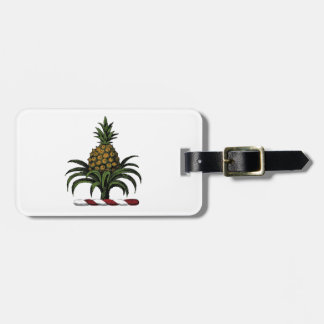 Preppy Heraldic Pineapple Crest Color RWT Luggage Tag