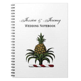 Preppy Heraldic Pineapple Crest Color RWT Notebooks