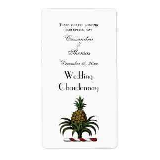 Preppy Heraldic Pineapple Crest Color RWT Shipping Label