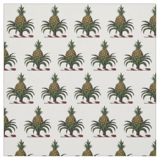 Preppy Heraldic Pineapple Crest Color WT Fabric