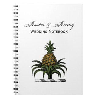 Preppy Heraldic Pineapple Crest Color WT Notebook