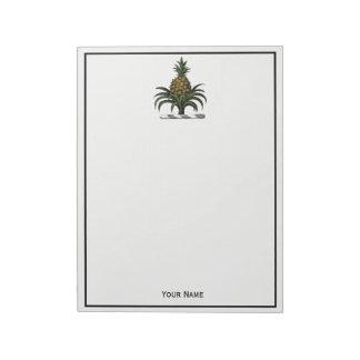 Preppy Heraldic Pineapple Crest Color WT Notepad