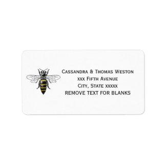 Preppy Heraldic Vintage Bee #2 Coat of Arms C Label